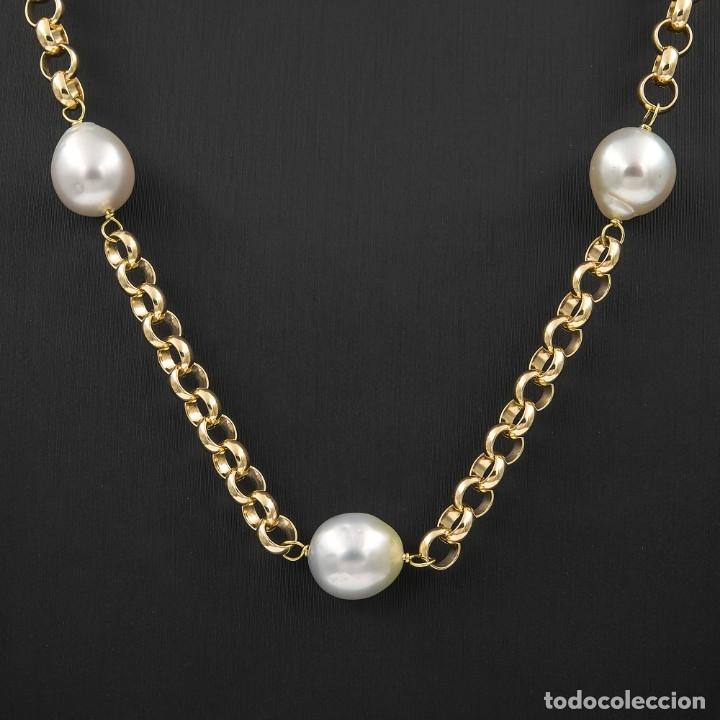 Joyeria: Collar de Perlas Australianas de los Mares del Sur y Oro 18 kt - Foto 3 - 177860558