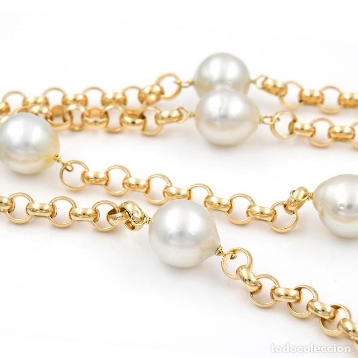 Joyeria: Collar de Perlas Australianas de los Mares del Sur y Oro 18 kt - Foto 4 - 177860558