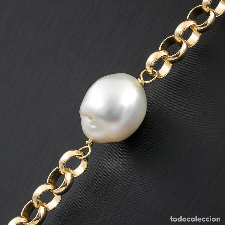 Joyeria: Collar de Perlas Australianas de los Mares del Sur y Oro 18 kt - Foto 5 - 177860558