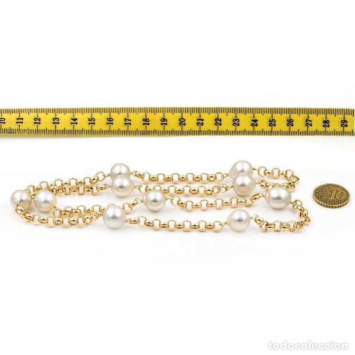 Joyeria: Collar de Perlas Australianas de los Mares del Sur y Oro 18 kt - Foto 6 - 177860558