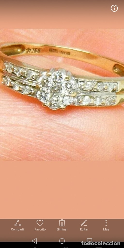Joyeria: Maravilloso anillo de oro macizo y auténticos diamantes naturales - Foto 2 - 178152540