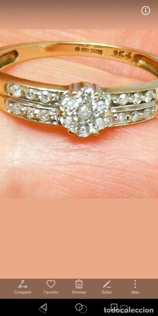 Joyeria: Maravilloso anillo de oro macizo y auténticos diamantes naturales - Foto 3 - 178152540