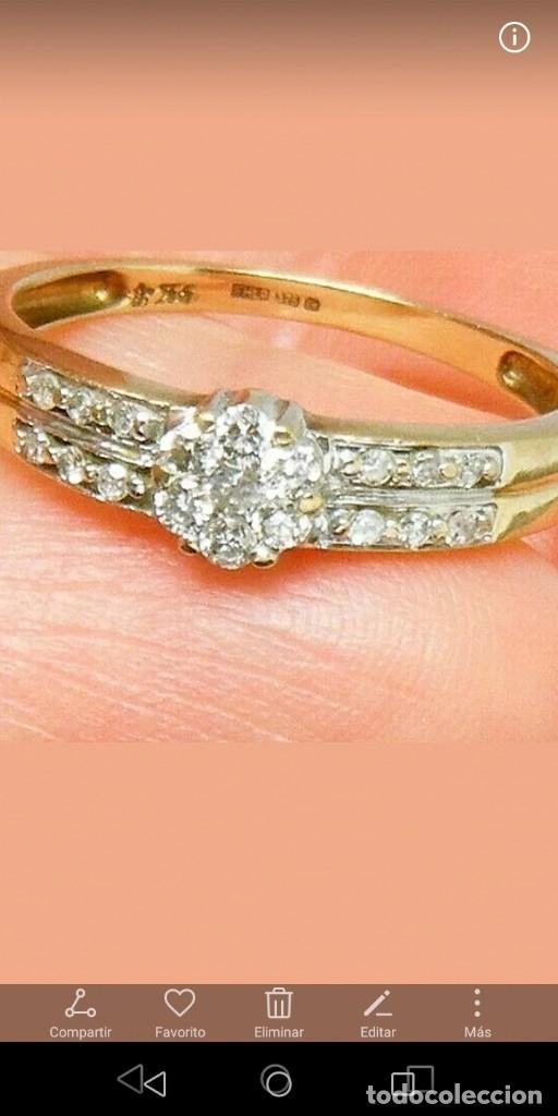 Joyeria: Maravilloso anillo de oro macizo y auténticos diamantes naturales - Foto 4 - 178152540