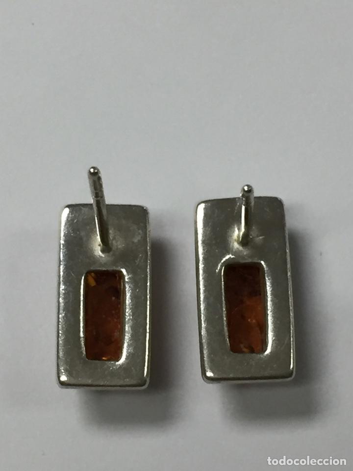 Joyeria: Pendientes de plata y Ámbar - Foto 3 - 178192377