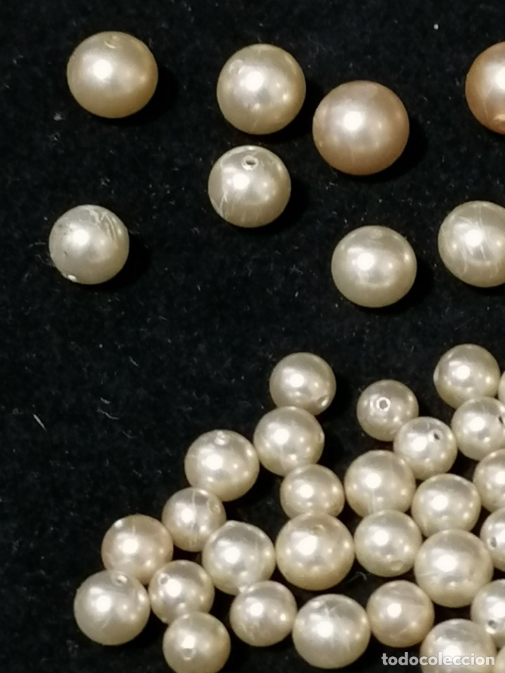 Joyeria: Lote de antiguas perlas de diferentes medidas. - Foto 4 - 178259085