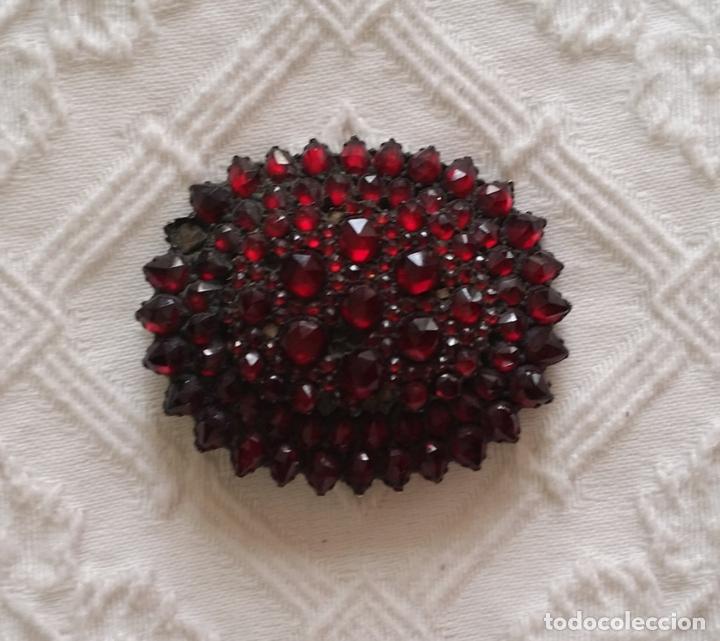 Joyeria: Antiguo broche con granates - Foto 2 - 178327421