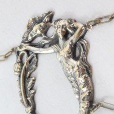 Joyeria: COLLAR CON GRAN COLGANTE ART NOUVEAU BAÑO DE PLATA. Lote 178558061
