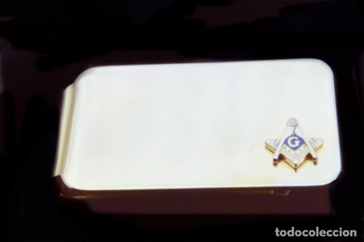 Joyeria: INTERESANTE CLIP MASÓNICO SUJETA BILLETES - PINZA GRANDE - GRAN LOGIA MASÓN - COLECCIÓN -ORIGINAL - Foto 8 - 178987035