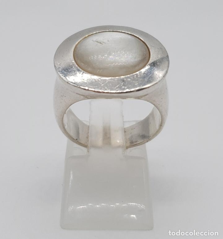 Joyeria: Original anillo en plata de ley de la firma TOUS con cabujón de nácar auténtico . - Foto 2 - 274423028