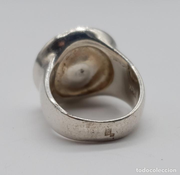 Joyeria: Original anillo en plata de ley de la firma TOUS con cabujón de nácar auténtico . - Foto 5 - 274423028