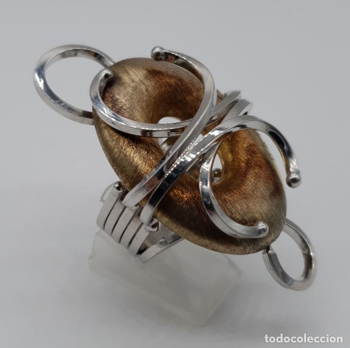 Joyeria: Espectacular anillo Padovani de diseño sofisticado en plata de ley contrastada y polvo de oro de 18k - Foto 3 - 179043631