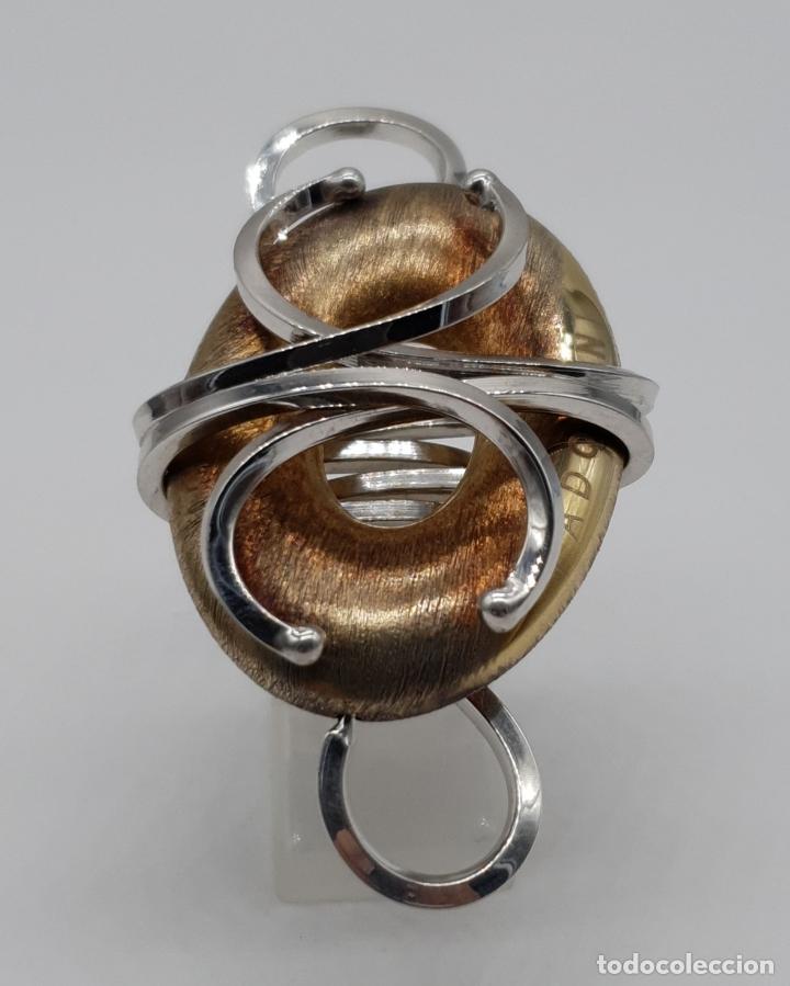 Joyeria: Espectacular anillo Padovani de diseño sofisticado en plata de ley contrastada y polvo de oro de 18k - Foto 4 - 179043631