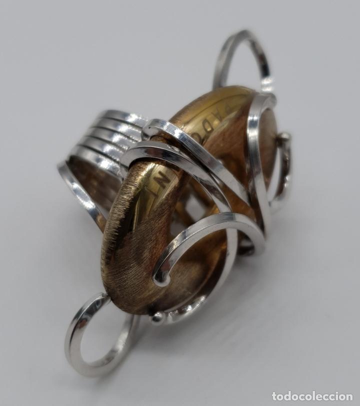 Joyeria: Espectacular anillo Padovani de diseño sofisticado en plata de ley contrastada y polvo de oro de 18k - Foto 8 - 179043631