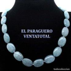Joyeria: GARGANTILLA COLLAR VINTAGE DE AGUAMARINAS PESA 51 GRAMOS - LEER DENTRO DESCRIPCION - Nº101. Lote 179048515