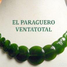 Joyeria: GARGANTILLA COLLAR VINTAGE DE ESMERALDAS PESA 49 GRAMOS - LEER DENTRO DESCRIPCION - Nº105. Lote 179050186
