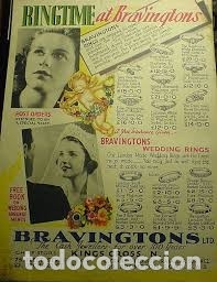 Joyeria: BONITO CALIBRE MEDIDOR ANILLOS BRAVINGTONS LONDON ANILLO ENTERO METAL RARO AÑOS 20 - Foto 6 - 179108433