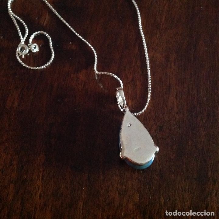 Joyeria: Gargantilla de plata de ley. Piedra oval natural. - Foto 3 - 179545626