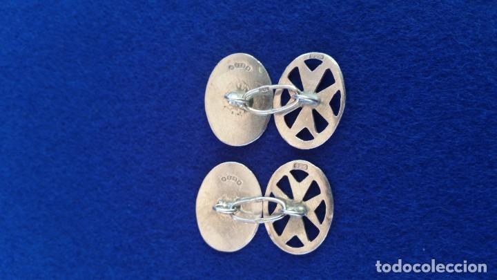 Joyeria: Gemelos Vintage de plata contrastada Orfebre FT. Malta. - Foto 3 - 180130852