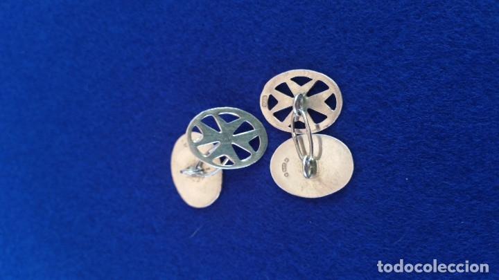 Joyeria: Gemelos Vintage de plata contrastada Orfebre FT. Malta. - Foto 4 - 180130852
