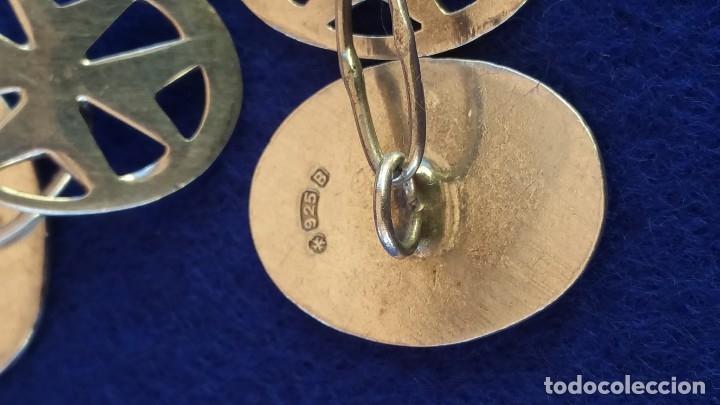 Joyeria: Gemelos Vintage de plata contrastada Orfebre FT. Malta. - Foto 6 - 180130852