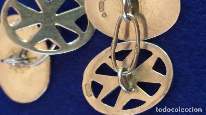 Joyeria: Gemelos Vintage de plata contrastada Orfebre FT. Malta. - Foto 7 - 180130852