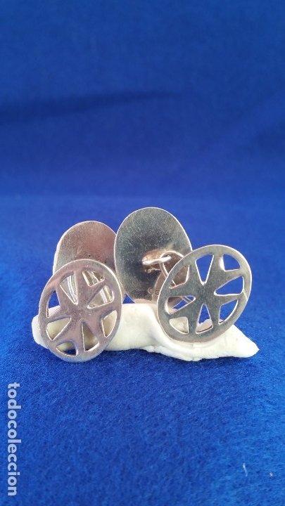 Joyeria: Gemelos Vintage de plata contrastada Orfebre FT. Malta. - Foto 8 - 180130852