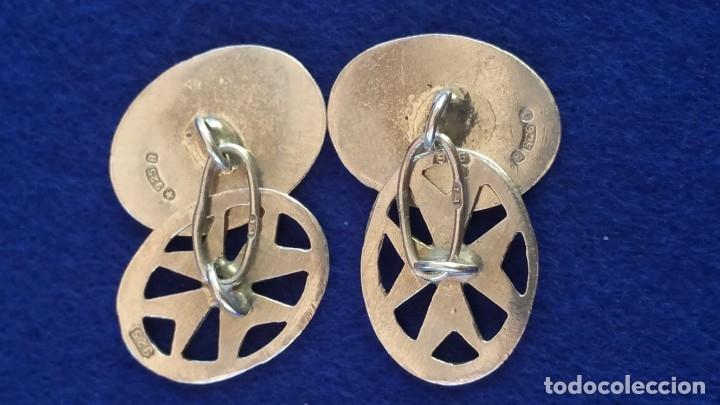 Joyeria: Gemelos Vintage de plata contrastada Orfebre FT. Malta. - Foto 9 - 180130852