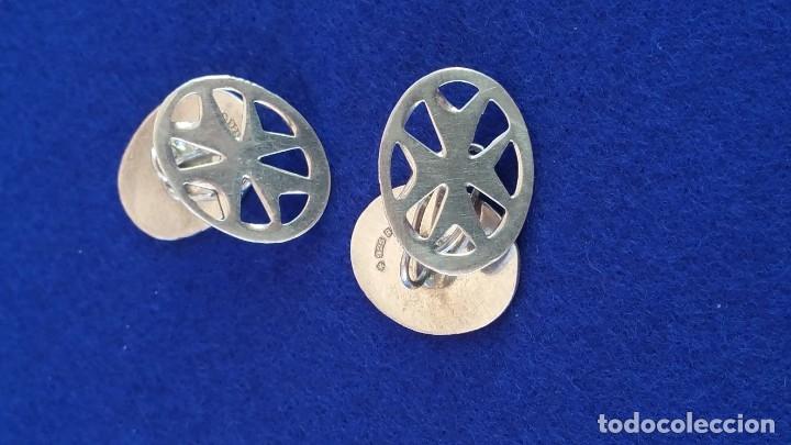 Joyeria: Gemelos Vintage de plata contrastada Orfebre FT. Malta. - Foto 10 - 180130852