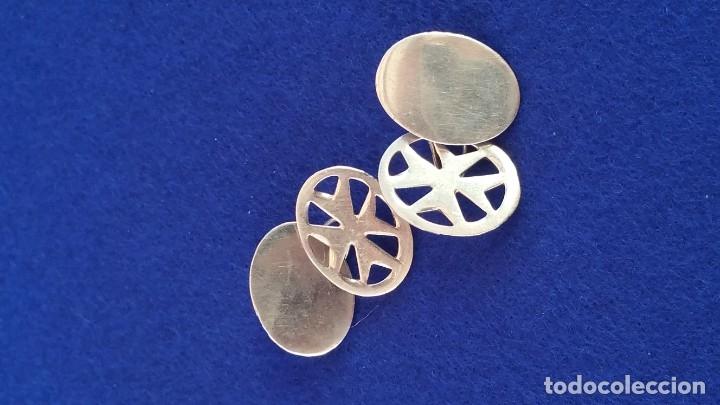 Joyeria: Gemelos Vintage de plata contrastada Orfebre FT. Malta. - Foto 11 - 180130852
