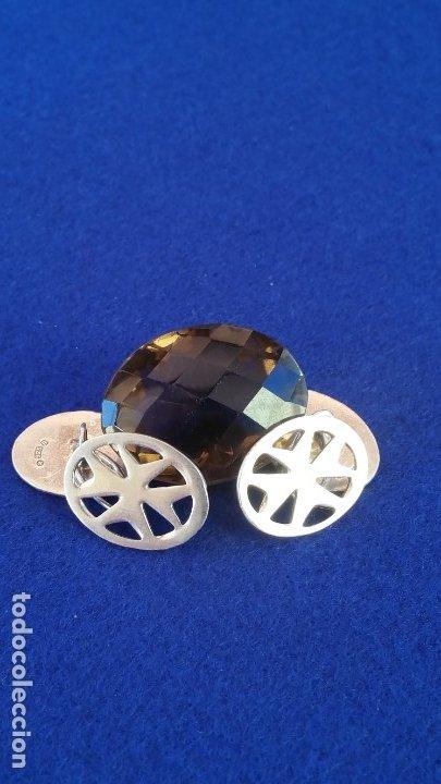 Joyeria: Gemelos Vintage de plata contrastada Orfebre FT. Malta. - Foto 13 - 180130852