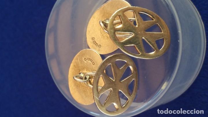Joyeria: Gemelos Vintage de plata contrastada Orfebre FT. Malta. - Foto 16 - 180130852