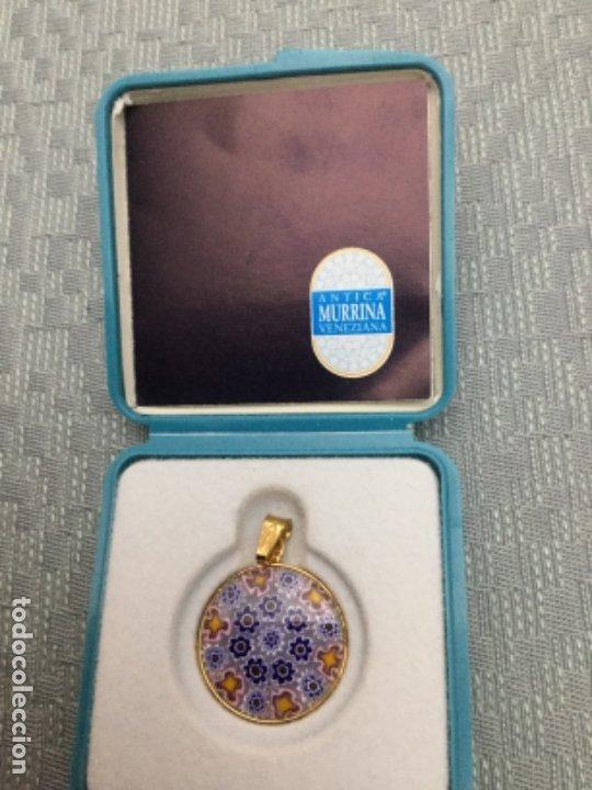 Joyeria: Colgante cristal de murano Antina Murrina, perímetro de plata bañada en oro de 24 kilates - Foto 2 - 180146478