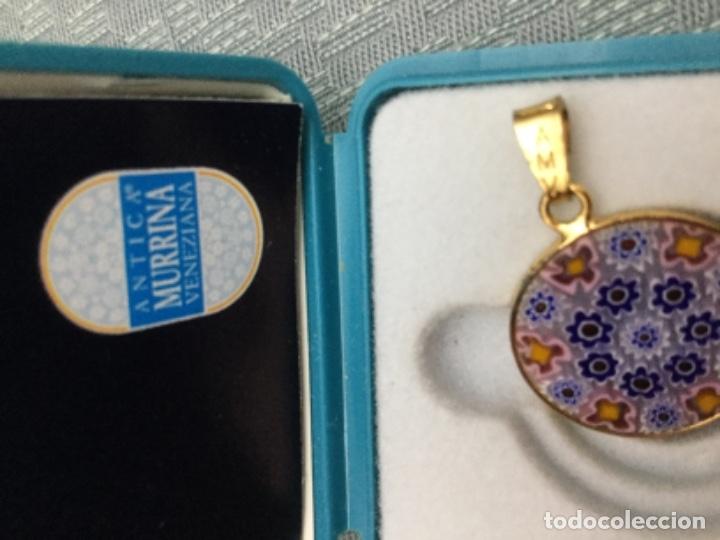 Joyeria: Colgante cristal de murano Antina Murrina, perímetro de plata bañada en oro de 24 kilates - Foto 5 - 180146478