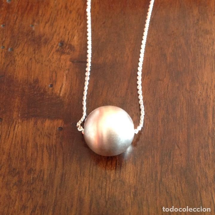 Joyeria: Gargantilla de plata con bola matizada - Foto 3 - 180333155