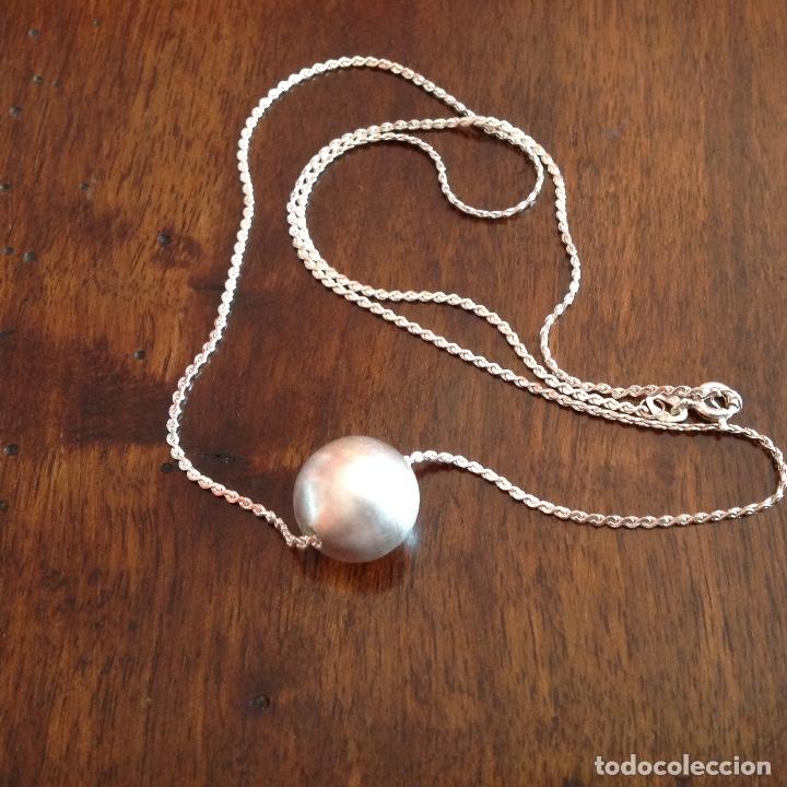 Joyeria: Gargantilla de plata con bola matizada - Foto 5 - 180333155