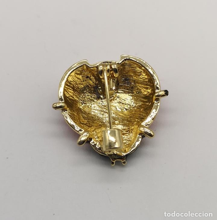 Joyeria: Bonito broche de mariquita con acabados en oro, esmaltes y circonitas talla brillante . - Foto 5 - 229257840