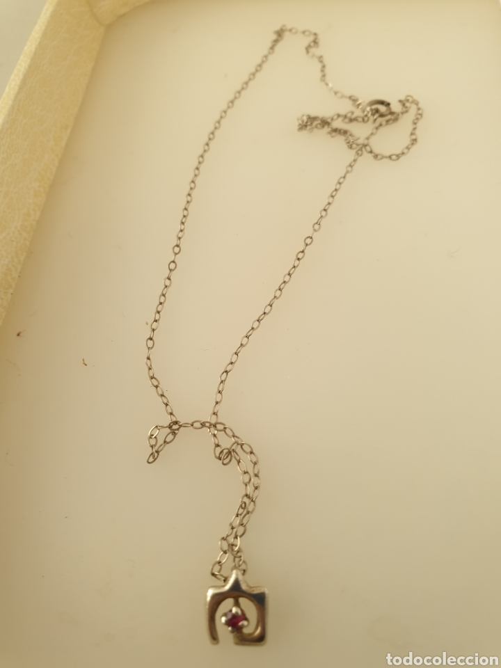 Joyeria: Finísimo colgante de Rubí art deco de plata de ley 925 con cadena de plata - Foto 2 - 180913140