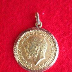Joyeria: COLGANTE DE ORO DE 18 KLTS. MEDALLA GEORGIUS V 1905. Lote 181449147