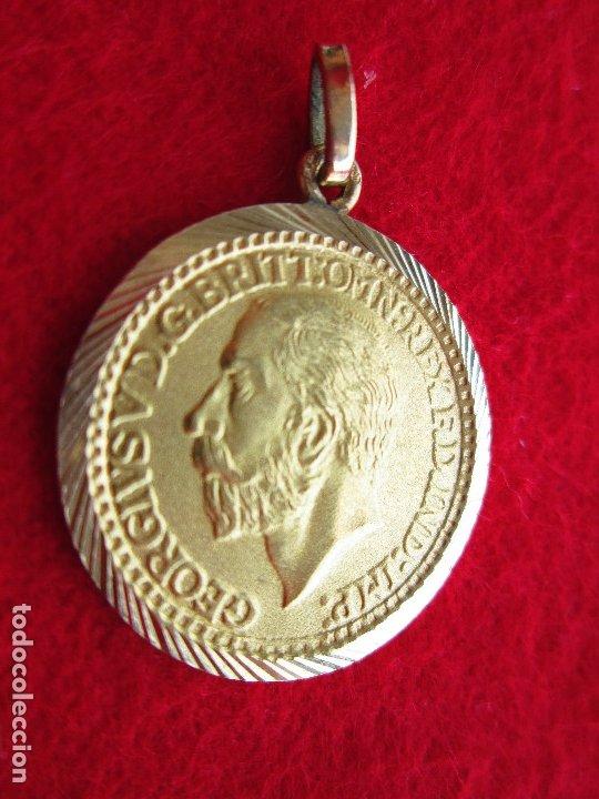 Joyeria: COLGANTE DE ORO DE 18 KLTS. MEDALLA GEORGIUS V 1905 - Foto 5 - 181449147