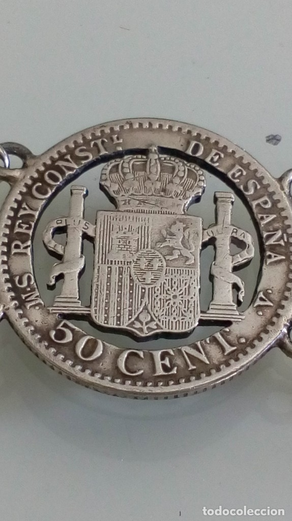 Joyeria: PULSERA DE PLATA DE MONEDAS TROQUELADAS Y DIJES - Foto 8 - 181630583