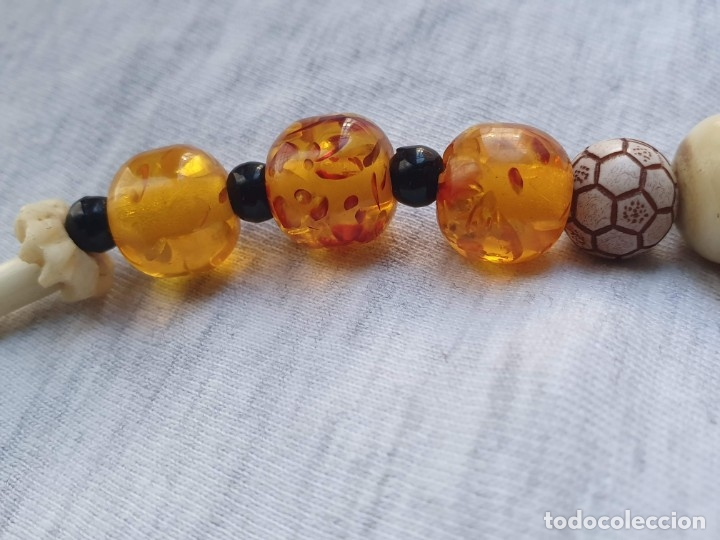 Joyeria: Collar de hueso con ambar medidas: 50 cm aproximadamente - Foto 2 - 182075660
