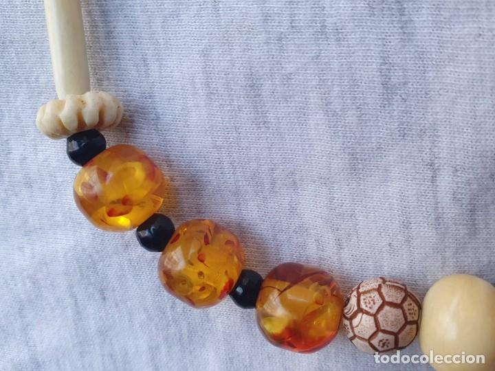 Joyeria: Collar de hueso con ambar medidas: 50 cm aproximadamente - Foto 3 - 182075660