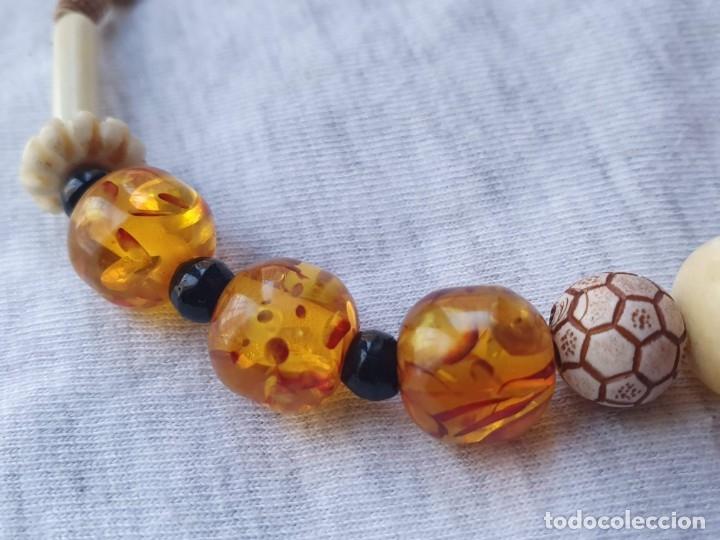 Joyeria: Collar de hueso con ambar medidas: 50 cm aproximadamente - Foto 4 - 182075660
