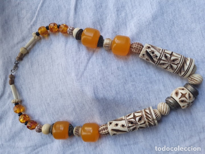 Joyeria: Collar de hueso con ambar medidas: 50 cm aproximadamente - Foto 10 - 182075660