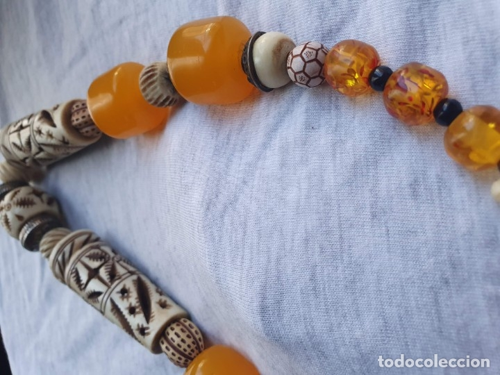 Joyeria: Collar de hueso con ambar medidas: 50 cm aproximadamente - Foto 12 - 182075660