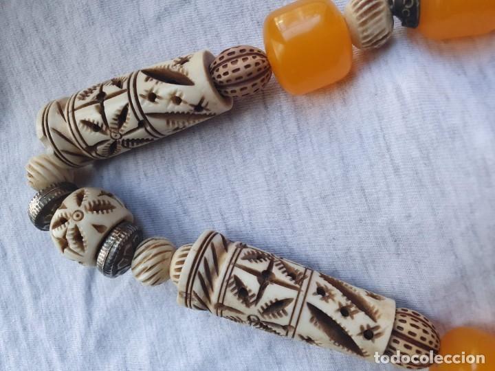 Joyeria: Collar de hueso con ambar medidas: 50 cm aproximadamente - Foto 13 - 182075660