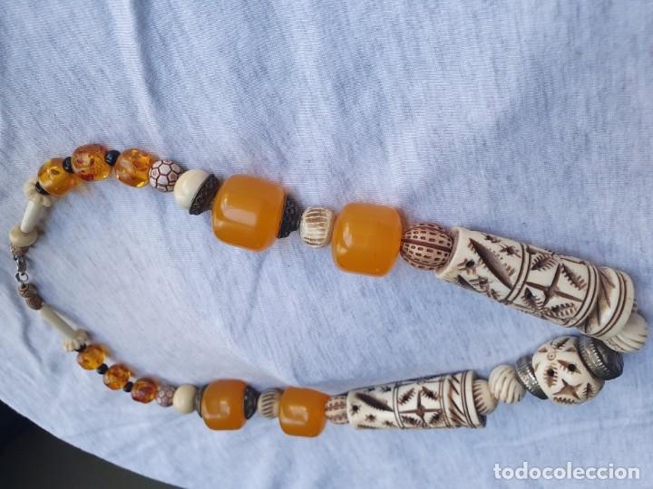 Joyeria: Collar de hueso con ambar medidas: 50 cm aproximadamente - Foto 19 - 182075660