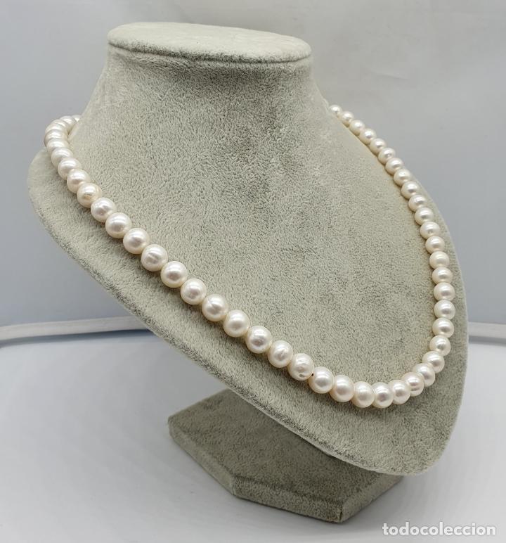 Joyeria: Bella gargantilla vintage de perlas auténticas y cierre en plata de ley contrastado . - Foto 3 - 182087817