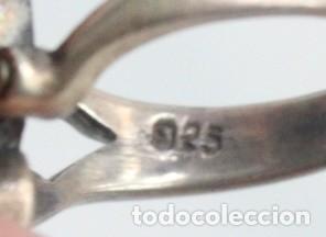 Joyeria: Precioso anillo pps s XX. Plata, marcasitas, esmalte de turquesa. - Foto 6 - 182846152