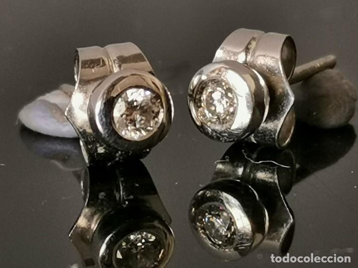 Joyeria: LIQUIDACIÓN, pendientes Dormilonas de diamantes 0,30ct SI-F en oro 18k - Foto 2 - 53223994
